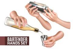 Barmixer Hands Set lizenzfreie abbildung