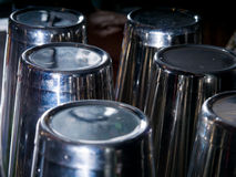 Barmixerwerkzeuge am Verein lizenzfreie stockfotografie
