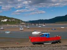 Barmouth港口Snowdonia国家公园威尔士 库存照片