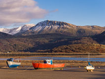 Barmouth Bay Winter in Wales Stock Photos