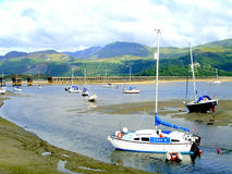 Barmouth bridge, Barmouth, Wales. Stock Images