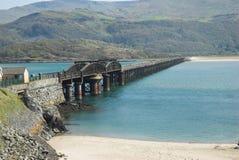 Barmouth Eisenbahnbrücke Lizenzfreies Stockfoto
