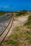 Barmouth and Fairbourne steam railway wales uk royalty free stock image