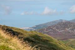 Barmouth från Cadair Idris Royaltyfria Bilder