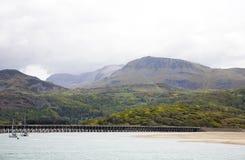 Barmouth Hafen Nordwales Lizenzfreies Stockfoto