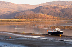 Barmouth Hafen in Wales Stockfotos