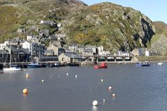 Barmouth Harbour. View of harbour in Mid Wales royalty free stock images