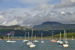 Barmouth Harbour & Bridge Royalty Free Stock Photography