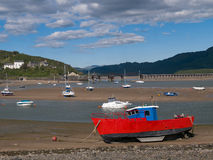 Barmouth Harbour Snowdonia National Park Wales Stock Photos