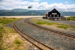 Barmouth i Fairbourne kontrpara kolejowy Wales uk Zdjęcie Royalty Free