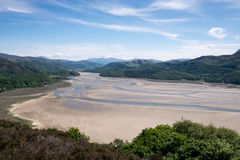 Barmouth panorama walk view. Royalty Free Stock Images