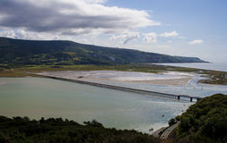 Barmouth Railway Bridge Royalty Free Stock Image