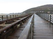 Barmouth railway bridge Royalty Free Stock Images