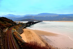 Barmouth Railway Bridge, Mid Wales, UK Royalty Free Stock Photography