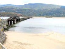 Barmouthbrug, Gwynedd, Wales. royalty-vrije stock afbeeldingen