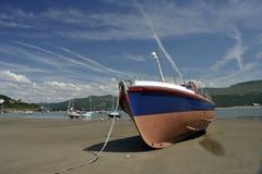 Barmouthstad en haven in Wales, het UK stock fotografie
