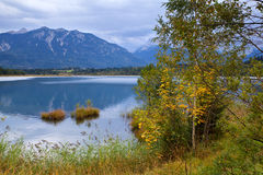 Barmsee lake in autumn Alps Royalty Free Stock Image