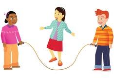 Barnöverhopp vektor illustrationer