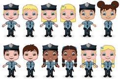 barn 1 förser med polis seten Fotografering för Bildbyråer