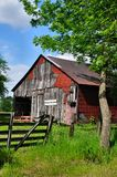 Barn. Old red and gray barn Royalty Free Stock Photography