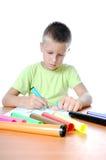 barn 2 tecknar familjen arkivbild