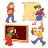 barn royaltyfri illustrationer