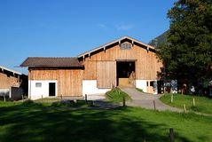 Barn. A beautiful home in bavaria germany Royalty Free Stock Image