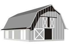 Barn. Art illustration of a barn Royalty Free Stock Images