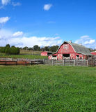 Barn. Rural photo of barn in a field with a blue sky Royalty Free Stock Photography