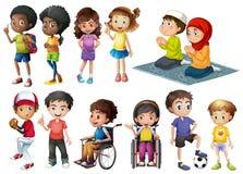 Barn stock illustrationer