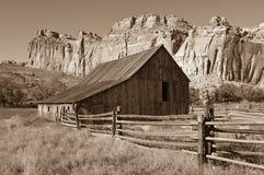 Barn. Old barn in Fruita. Capitol Reef National Park, Utah, USA stock photos