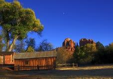 Barn. A barn in the desert near Sedona, AZ Royalty Free Stock Image