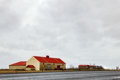 Icelandic Barn on the Ring Road royalty free stock photos