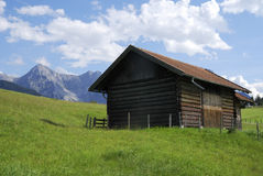 Barn in the alps Royalty Free Stock Photography
