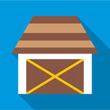 Barn for animals icon, flat style Stock Images