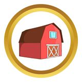 Barn for animals vector icon Royalty Free Stock Images