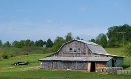 A Barn in the Appalachian Mountains Royalty Free Stock Photo