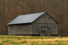 Barn during winter Stock Image