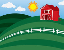 Free Barn At The Top Of A Hill Royalty Free Stock Photos - 22267788