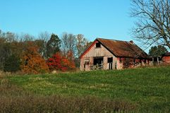 Barn in autumn countryside Stock Photography