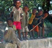 Barn av Afrika, Madagascar Arkivfoton