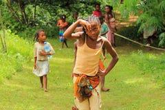 Barn av Afrika, Madagascar Arkivfoto