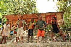 Barn av Afrika, Madagascar Arkivbilder