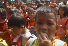 BARN AV INDONESIEN BEFOLKNING Arkivbilder
