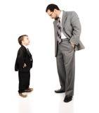 Barn avlar och hans son Royaltyfri Bild