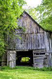 Barn in the back woods of Alabama Stock Photo