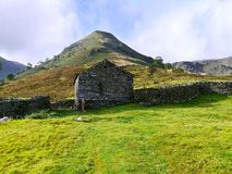 Barn at base of High Hartsop Dodd, Lake District Stock Photos