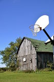 Barn basketball with double courts Stock Image
