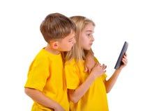 Barn behandlade ebook Royaltyfria Foton