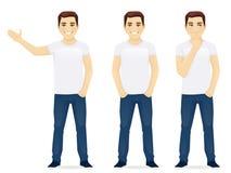 Barn bemannar i jeans vektor illustrationer